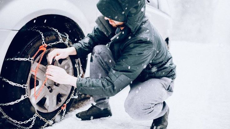 Soltar cadenas de nieve
