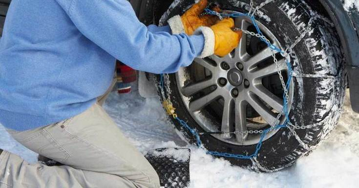 Retirar las cadenas de nieve